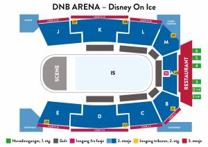DNB Arena oversikt Disney on Ice