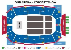 arenaoversikt dnbarena show konsert disney on ice